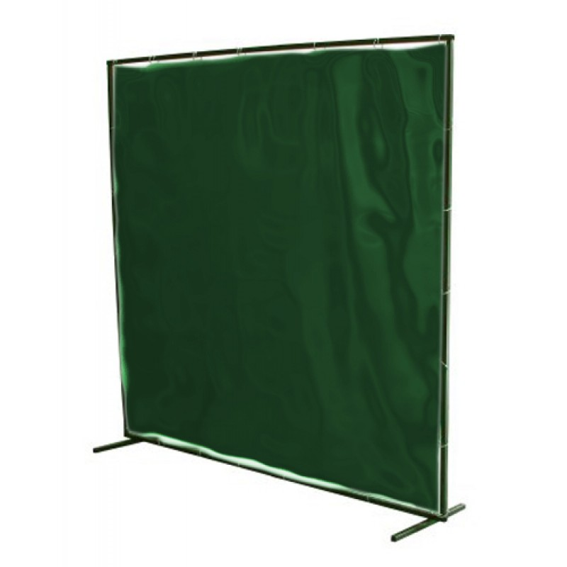 Portable Welding Screen 6' x 6' Low Vis Green